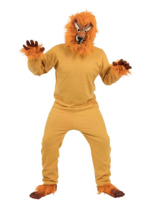 Adults Lion Budget Costume Jungle Animal Beast Africa India Fancy Dress Outfit